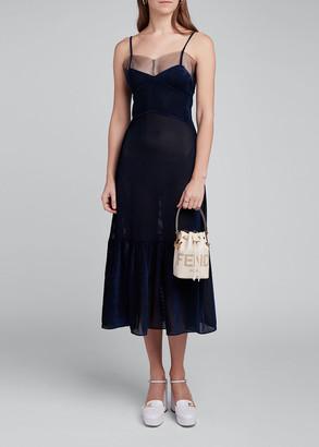 Fendi Fluid Silk Corduroy Dress