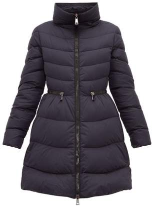 Moncler Mirielon Fitted-waist Down-padded Parka - Womens - Navy