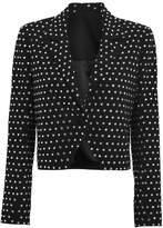 Mason by Michelle Mason Crystal-Embellished Cropped Blazer
