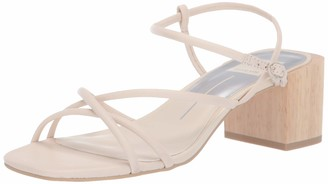 Dolce Vita Women's Zayla Heeled Sandal Ivory Leather 10 M US