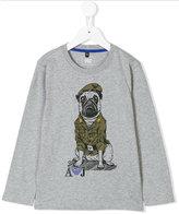 Armani Junior dog print T-shirt