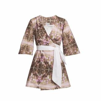 Mary H Wrap Mini Dress Kimono Shirt