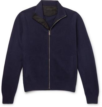 Prada Virgin Wool And Cashmere-Blend Zip-Up Cardigan