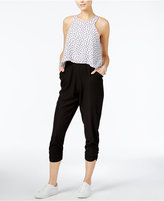 Bar III Mixed-Media Popover Jumpsuit, Created for Macy's