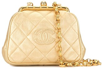 Chanel Pre Owned 1990s Diamond Quilted Metallic Shoulder Bag