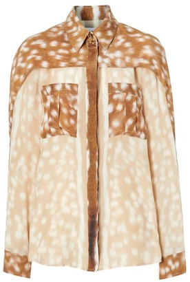 Burberry Pari Deer Print Blouse