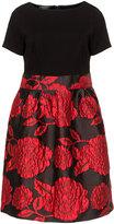 Apart Plus Size A-line taffeta dress