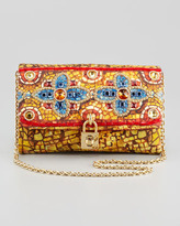 Dolce & Gabbana Miss Dolce Floral-Beaded Clutch Bag,