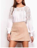 BB Dakota A-Line Faux-Suede Skirt