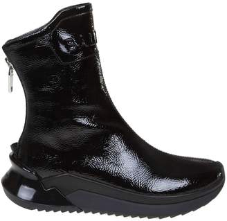 Balmain B-glove Sneakers In Bright Color Black Leather