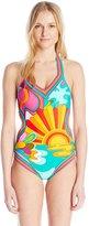 Trina Turk Women's Playa Azul Monokini One Piece Swimsuit