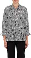 Opening Ceremony WOMEN'S RUFFLE STRIPED & FLORAL COTTON SHIRT