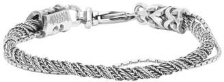 Emanuele Bicocchi Silver Single Torsion Rope Bracelet