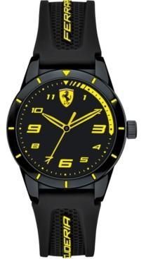 Ferrari Kid's Red Rev Black Silicone Strap Watch 34mm