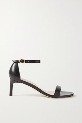 Stuart Weitzman Nunaked Leather Sandals - Black