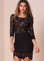 Missy Empire Chelian Black Crochet Bodycon Dress