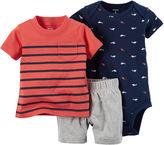 Carter's 3-pc. Bodysuit and Shorts - Baby Boys newborn-24m