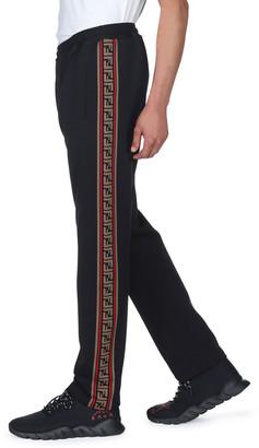Fendi Men's Side-Striped Jersey Joggers