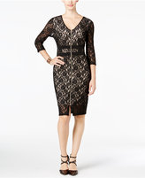 Thalia Sodi Lace Illusion Dress, Only at Macy's