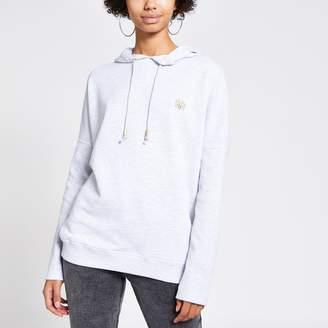 River Island Womens Grey batwing sleeve hoodie