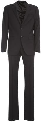 Lanvin Natural Stretch Canvas Suit