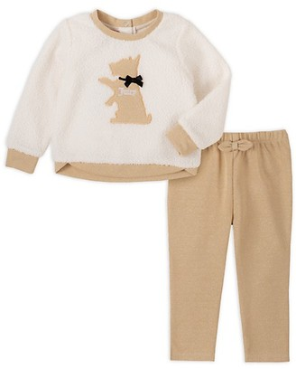 Juicy Couture Baby Girl's 2-Piece Faux Shearling Sweater & Pants Set