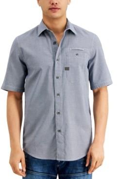 G Star Men's Regular-Fit Houndstooth Shirt