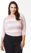 Forever 21 Striped Longline Sweater