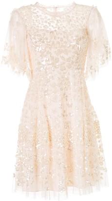 Needle & Thread Honesty Flower sequin dress