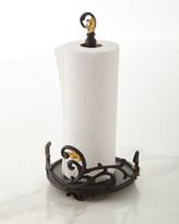 GG Collection G G Collection Gold Leaf Paper Towel Roll Holder