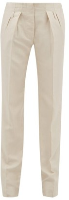 Giuliva Heritage Collection The Gastone Silk-blend Herringbone Twill Trousers - Ivory