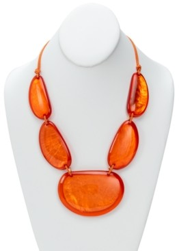 """Style&Co. Style & Co Gold-Tone Colored Statement Necklace, 21-1/2"""" + 3"""" extender, Created for Macy's"""