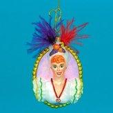 Kurt Adler Polonaise Glass Lucy Babalu Bust Christmas Ornament #AP1879