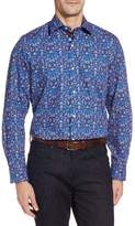 Tailorbyrd Men's Bryceland Regular Fit Print Sport Shirt