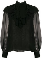 Giambattista Valli sheer sleeves blouse