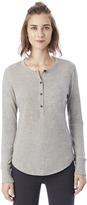 Alternative Donna Organic Pima Cotton Henley Shirt