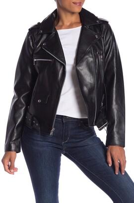 Sam Edelman Asymmetrical Zip Faux Leather Jacket