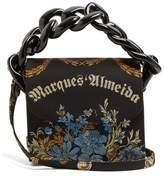 Marques Almeida MARQUES'ALMEIDA Oversized curb-chain embroidered shoulder bag