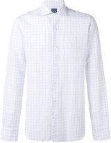 Barba woven grid shirt - men - Cotton/Linen/Flax - 40