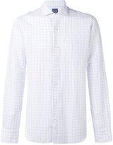 Barba woven grid shirt