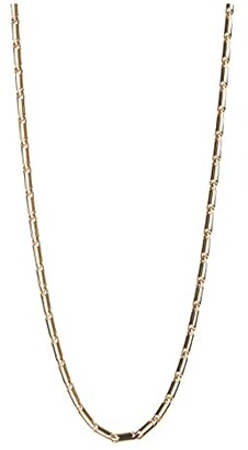 Rebecca Minkoff Textured Bar Chain Necklace (Gold) Necklace