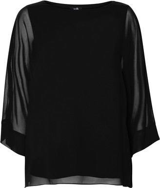 Wallis Black Sheer Overlay Blouse