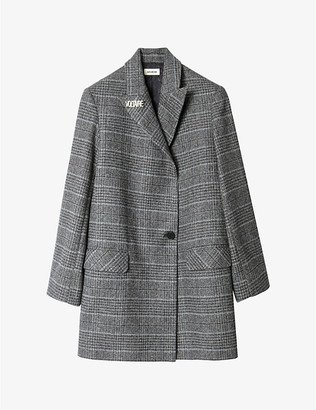 Zadig & Voltaire Marcovy checked wool coat