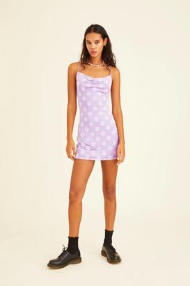 Motel Becky Cowl Neck Mini Dress