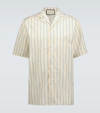 Gucci Double G striped cotton shirt