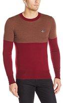 Vivienne Westwood Men's Classic Crew Neck Sweater Color Block