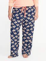 Old Navy Llama-Print Plus-Size Flannel Sleep Pants