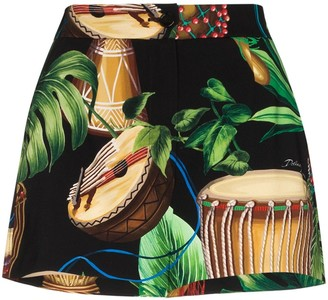 Dolce & Gabbana Drum Jungle Print Shorts