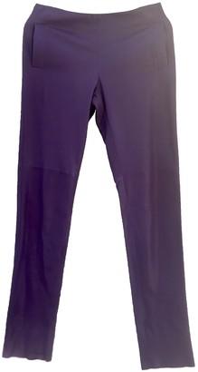 Bottega Veneta Purple Leather Trousers