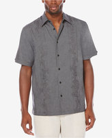 Cubavera Men's Big and Tall Embroidered Chambray Shirt